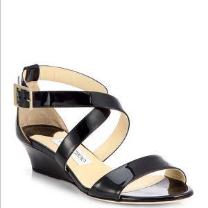 Jimmy Choo Chiara Demi-Wedge Crisscross Sandal